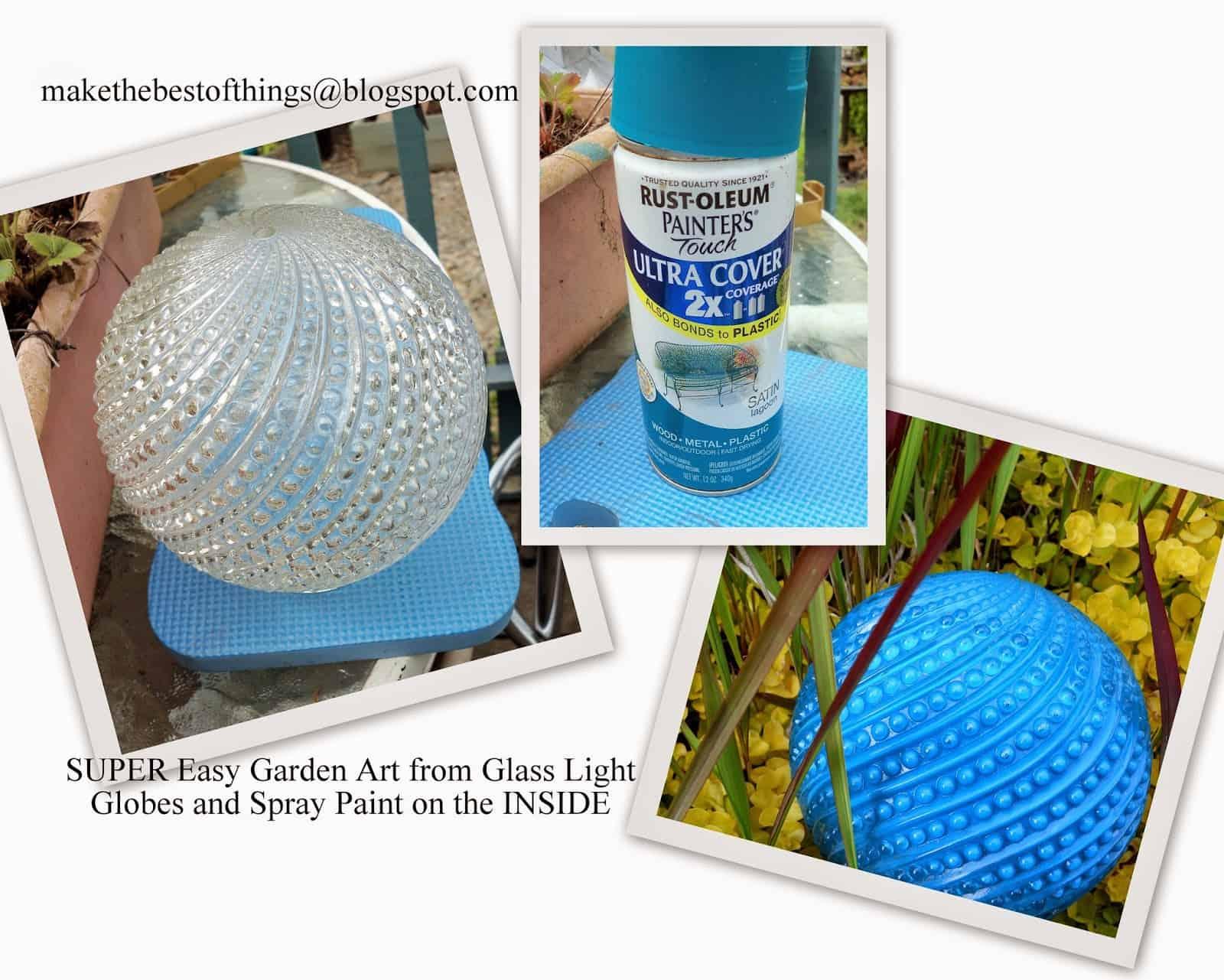Painted glass lamp shade art