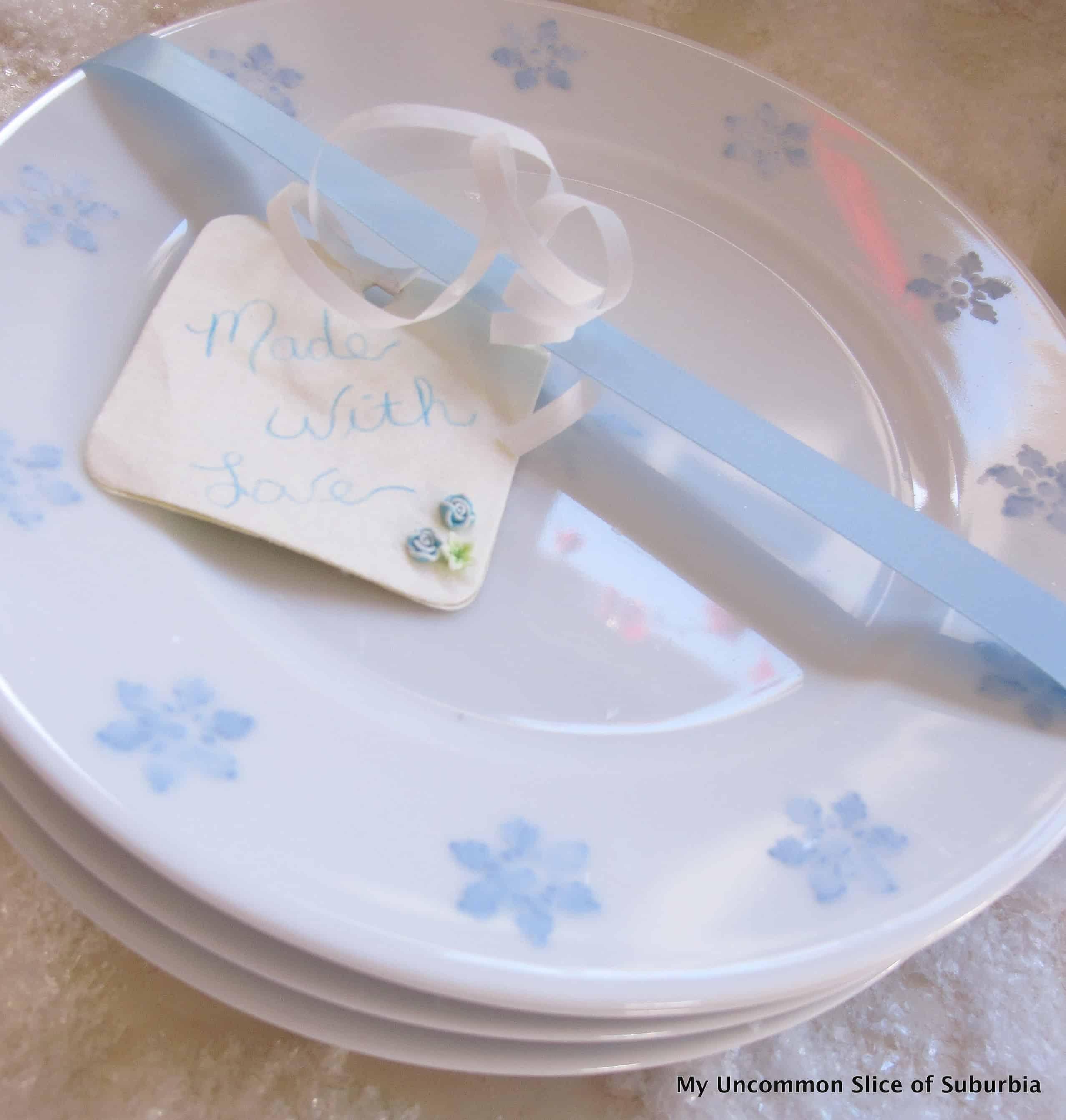 Painted snowflake plates