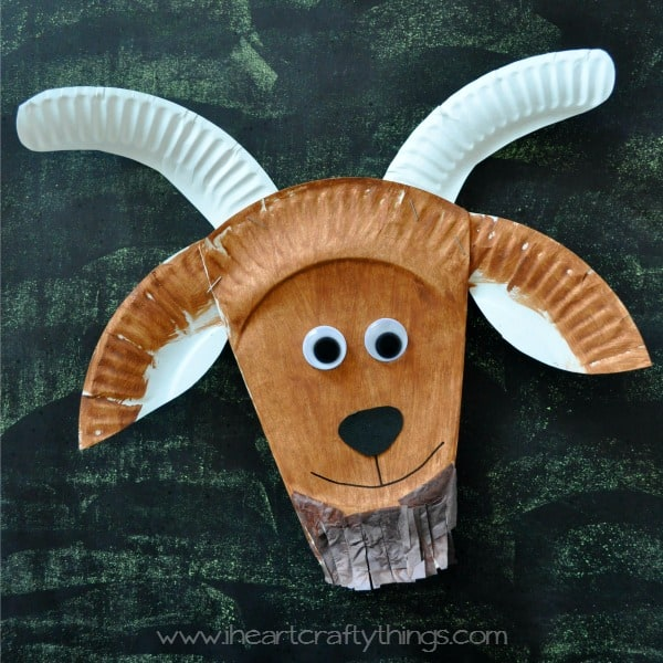 Paper plate goat