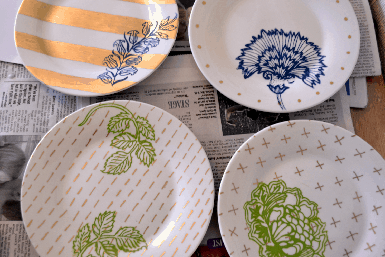 Customize With Color And Pattern 15 Painted Dish Designs