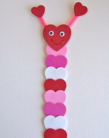 Pink heart bookmark