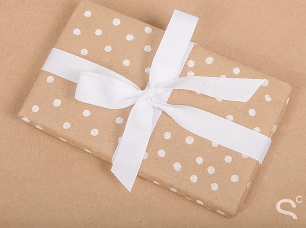 Polka dot wrapping paper