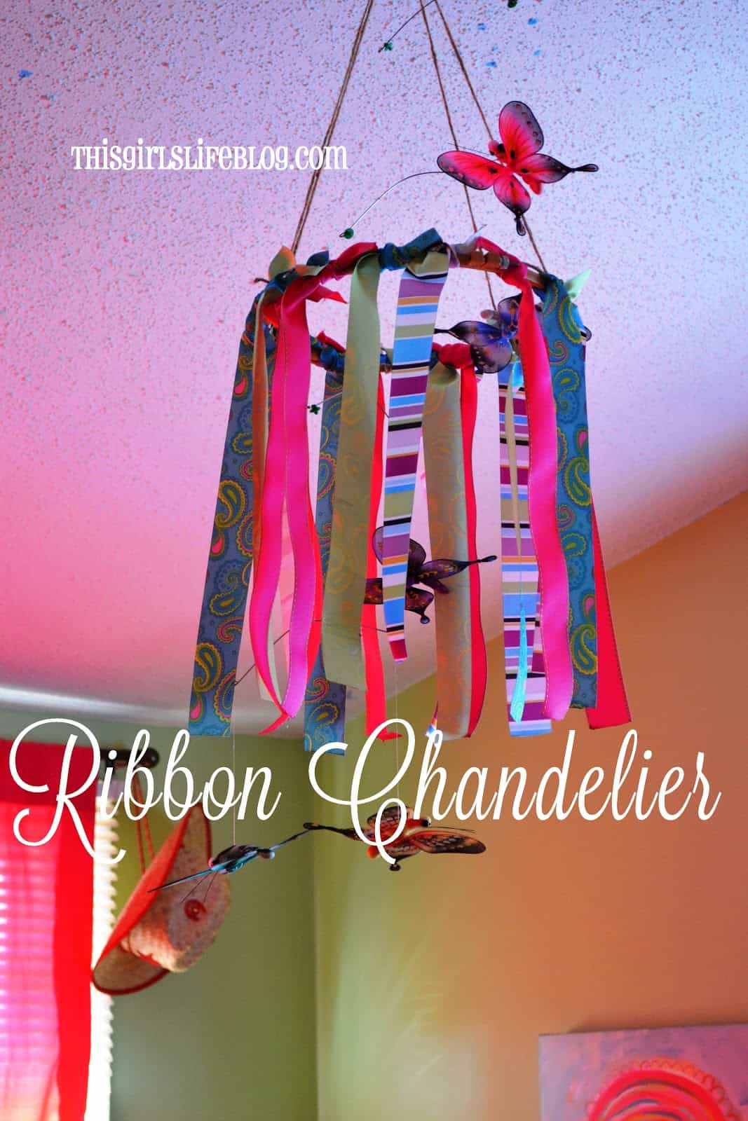 Pretty ribbon chandelier