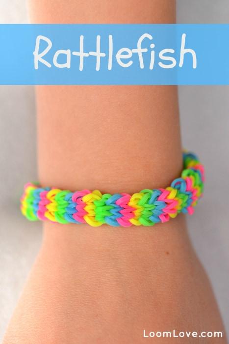 Rainbow Loom rattlefish style bracelet