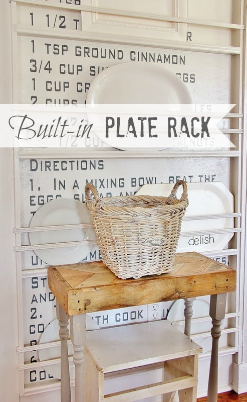Recipe Wall Plate Rack & DIY Plate Rack: The Best Way to Stack Your Plates