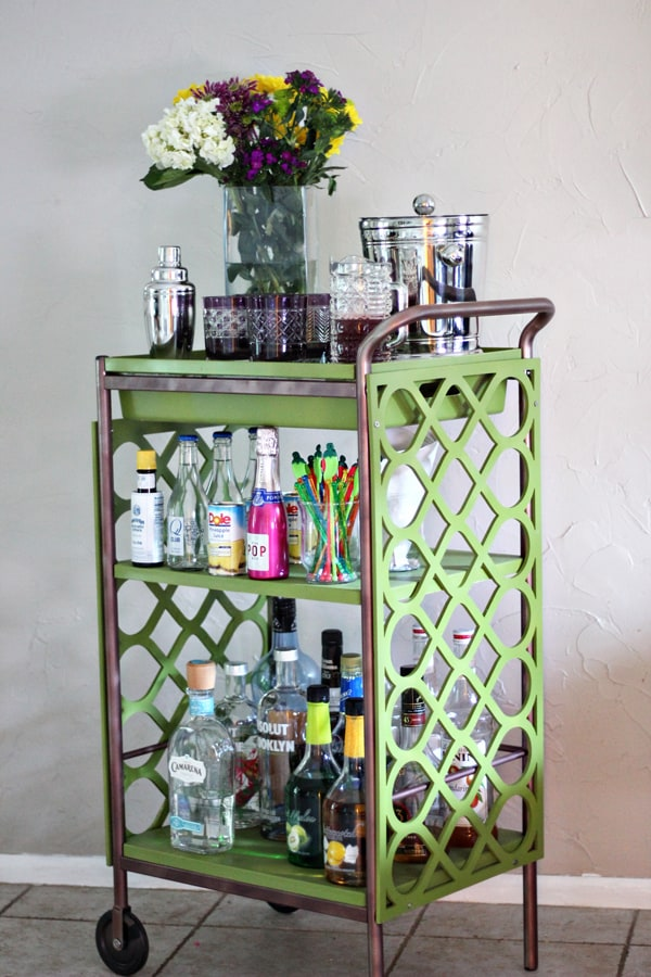 retro bar cart build your own 10 retro bar cart dozen diy carts musthave at every house party
