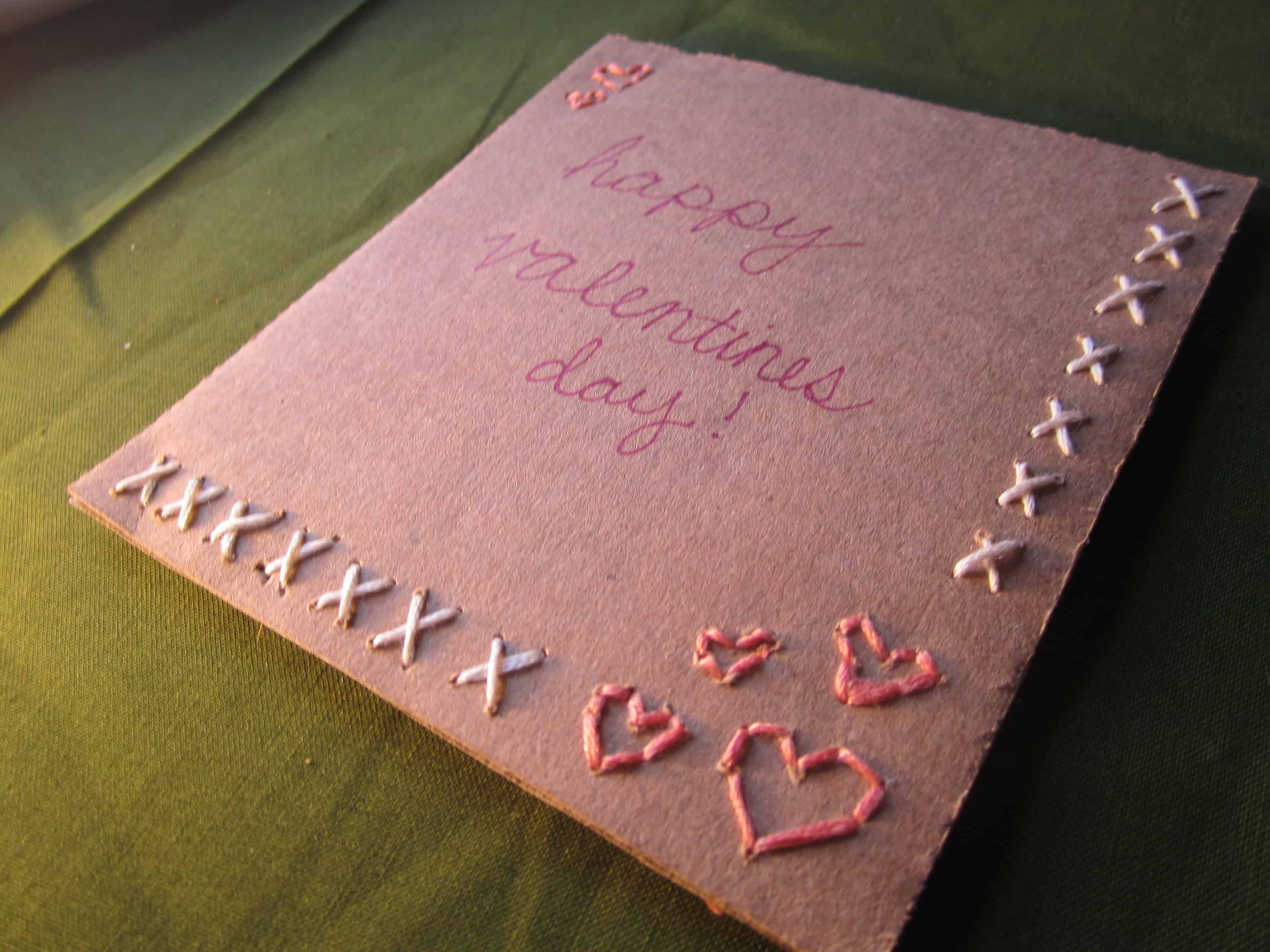 Ribbon embroidered Valentines