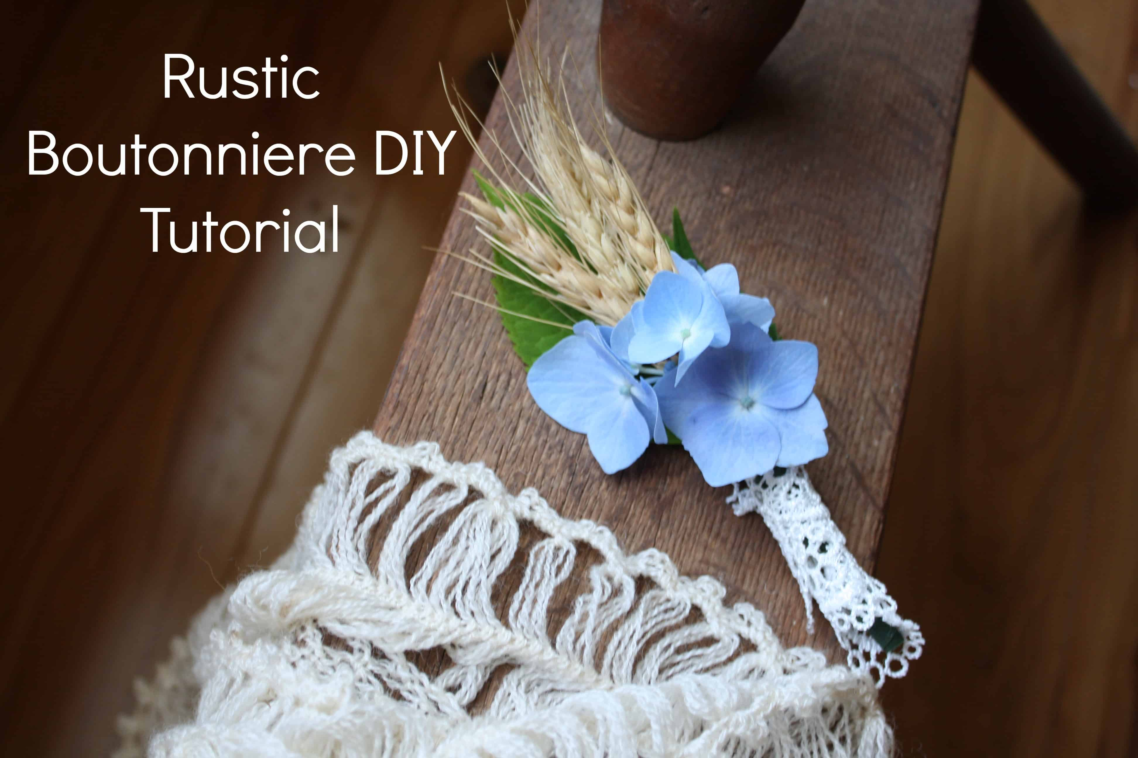 Rustic looking wheat and lace