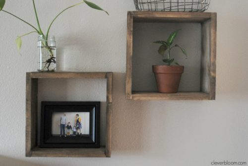 dynamic storage: diy box shelves Square Box Shelves