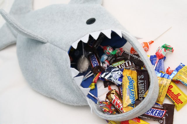Shark candy bag