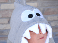 Shark hoodie towel 200x150 Every Week is Shark Week: 13 Magnificent DIY Shark Crafts