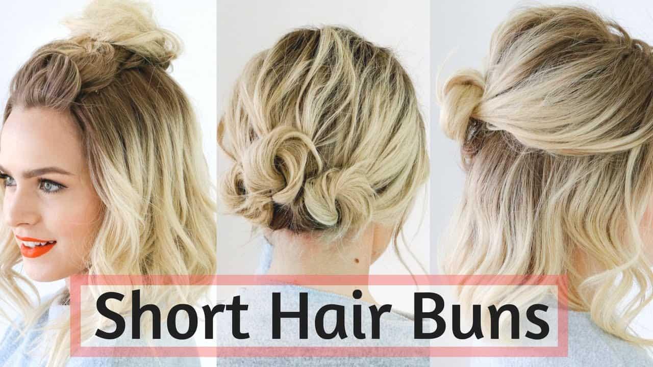 Short hair buns