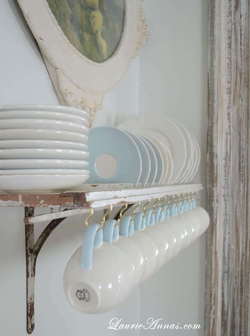 Shutter plate rack