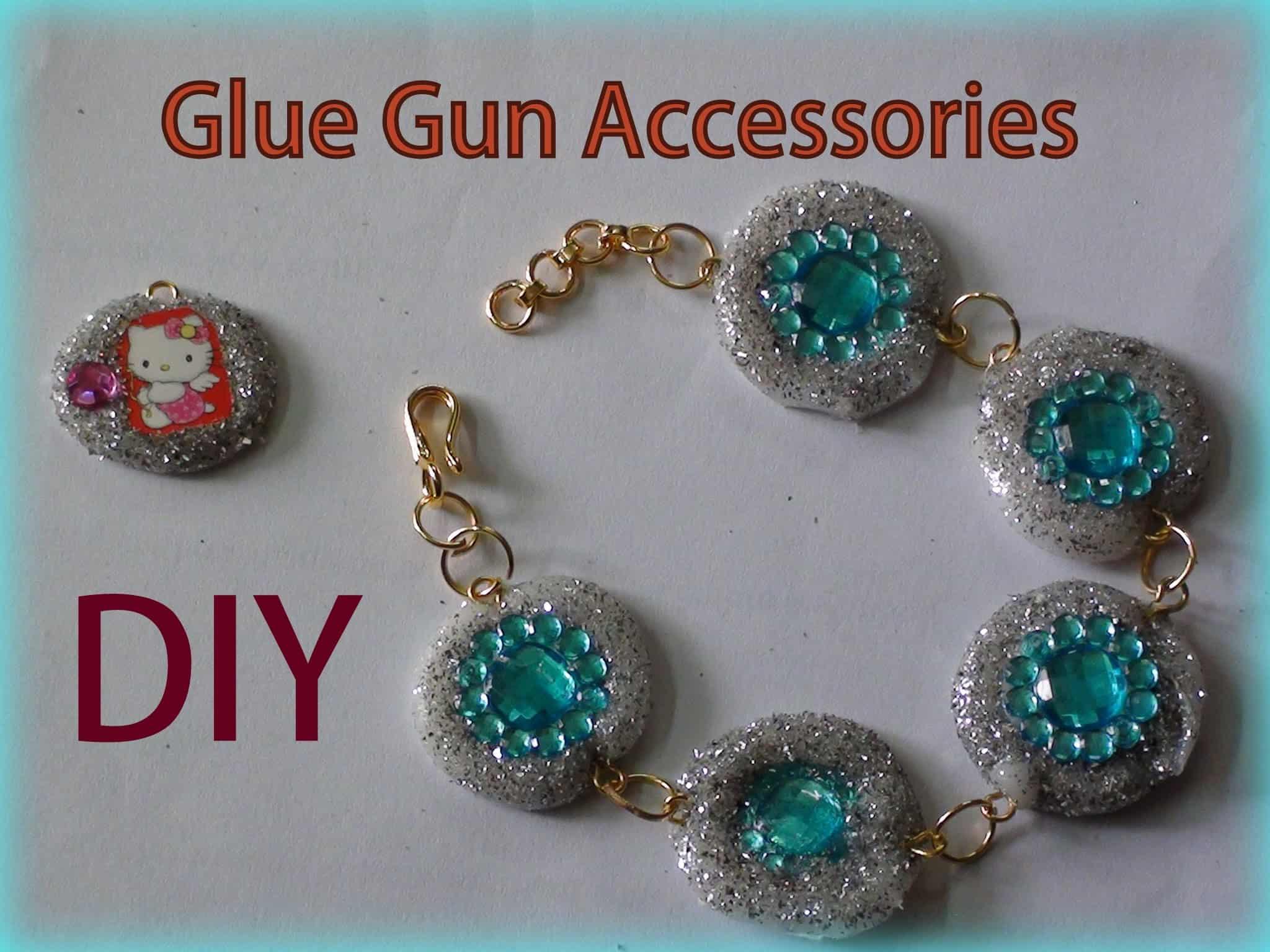 Sparkly glue fun and rhinestone bracelet