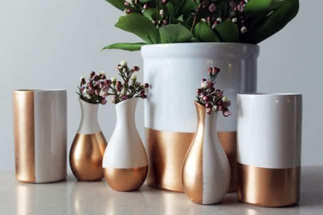 Spray painted ceramics