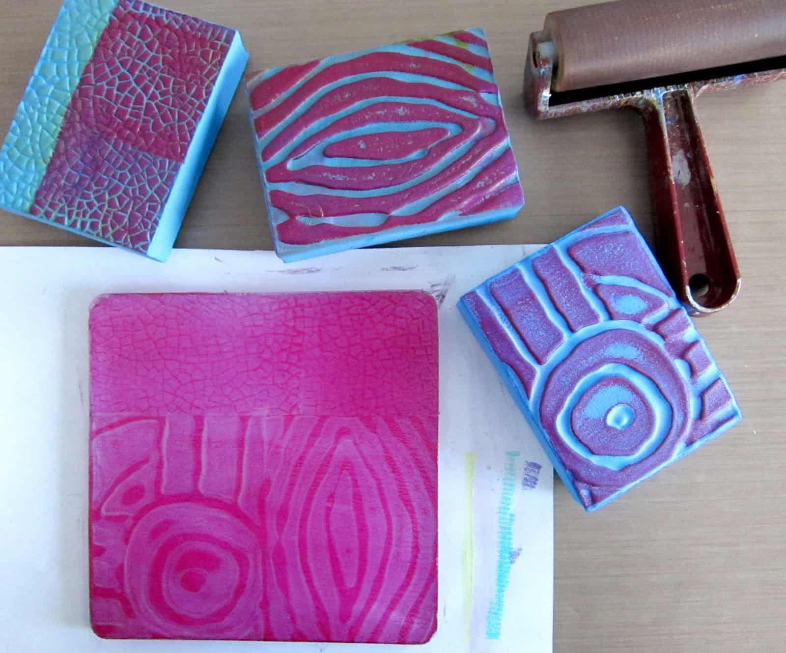 Texture fabric stamps