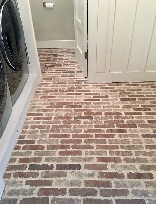 Thin brick floor