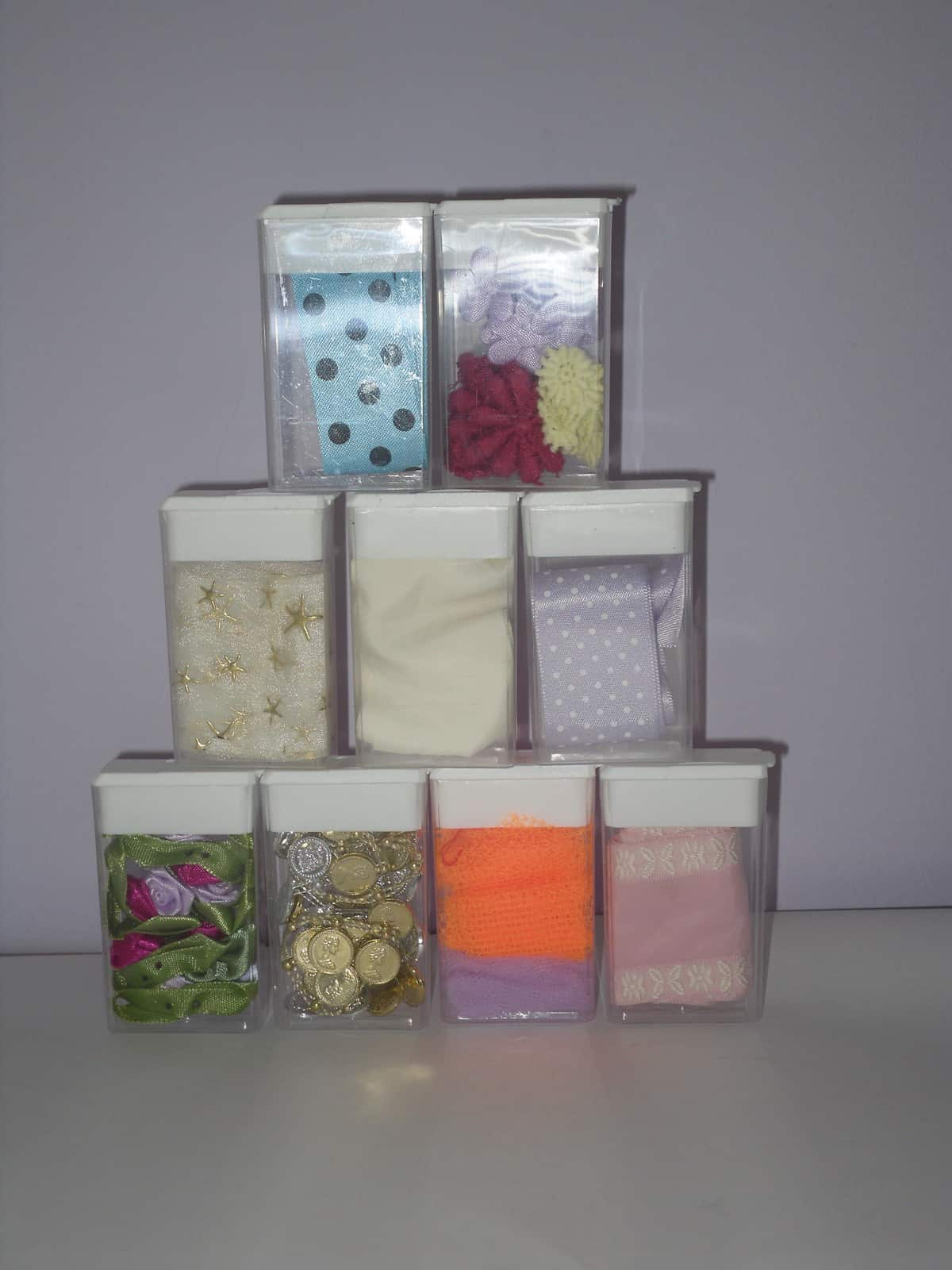 Tic Tac craft supply holders