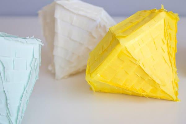 Tissue paper diamonds