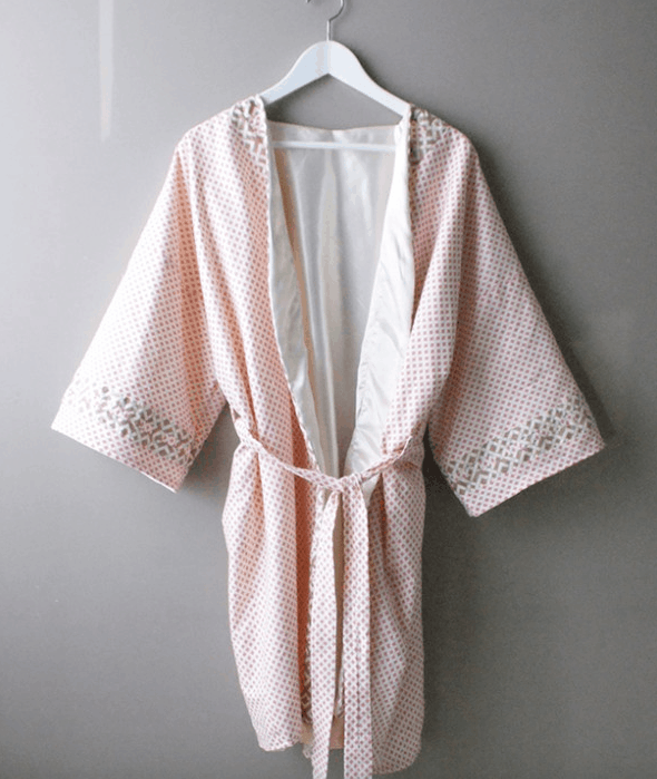 Trellis edged robe