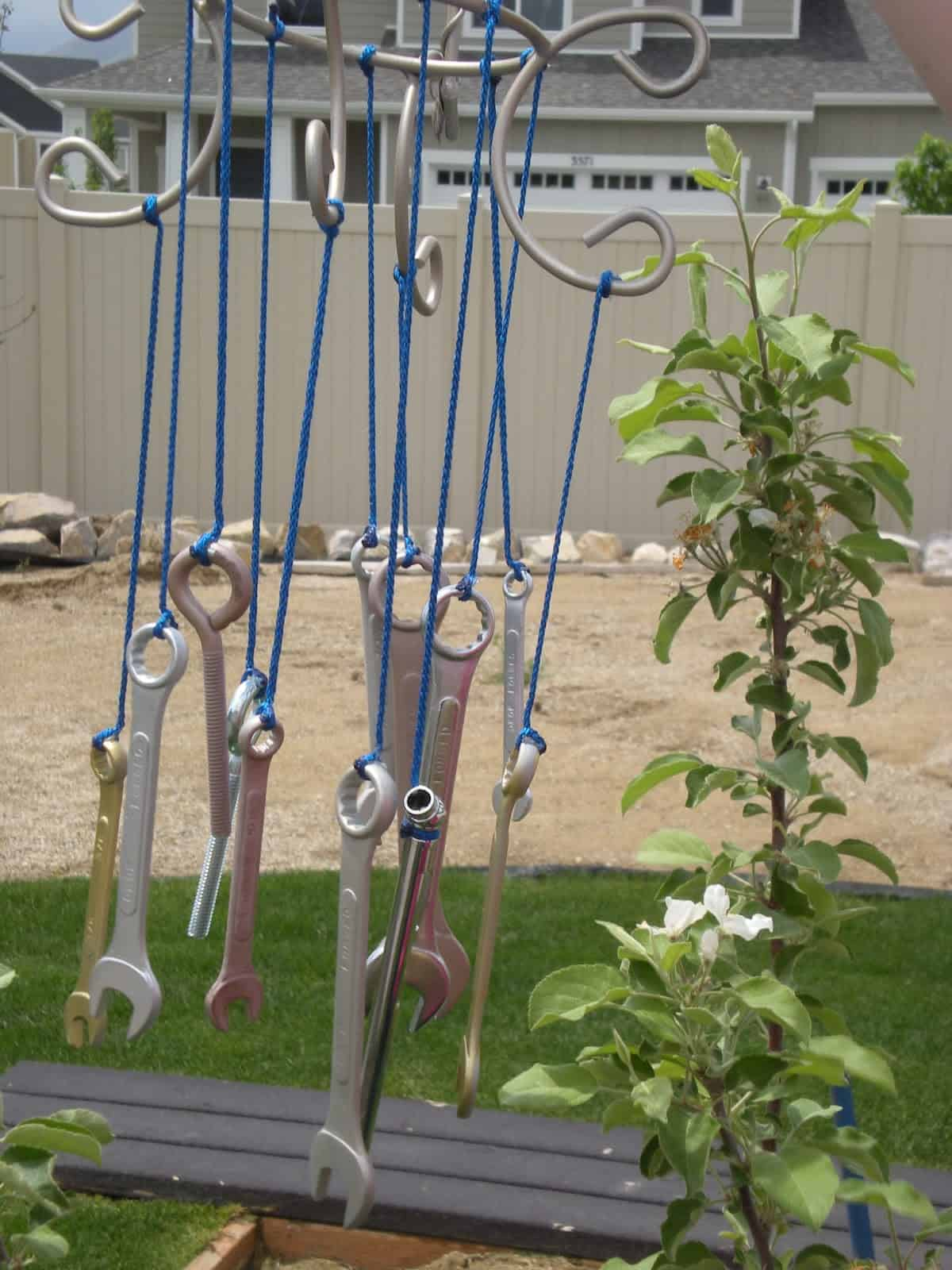 Upcycled wrench chimes