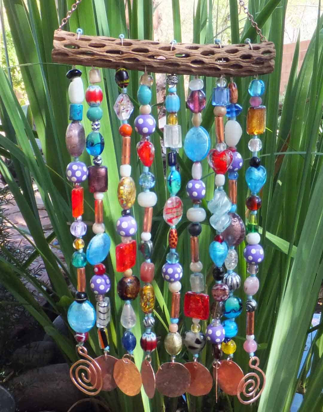 Wood and bead wind chimes