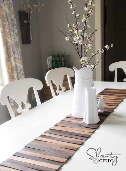 Wooden table runner