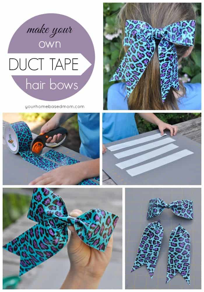 Adorable duct tape hair bow