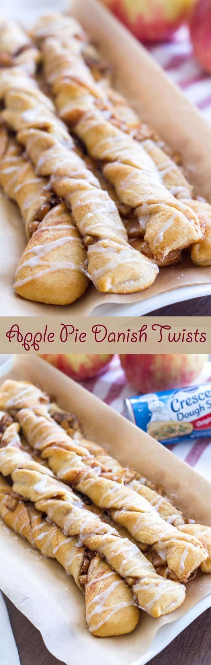 Apple pie danish twists
