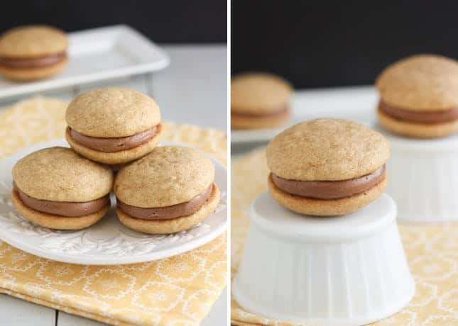 Banana bread and Nutella whoopie pies