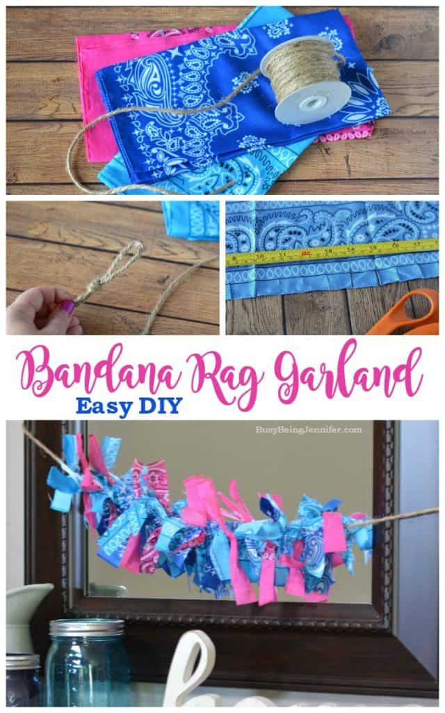 Bandana rag party garland
