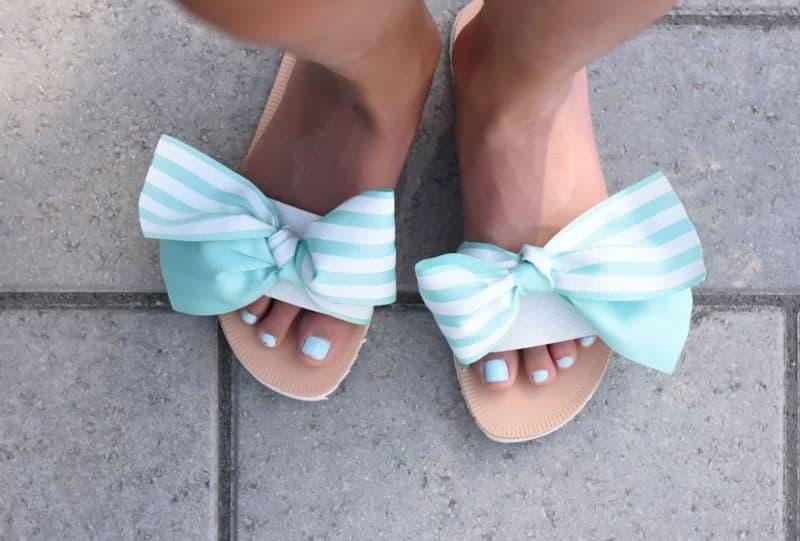 Big bow sandals