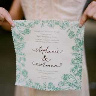 Classic and Creative: DIY Handkerchief Invitation Designs