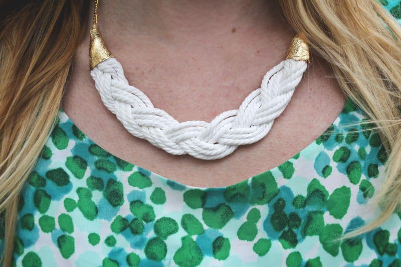 Braided rope necklace