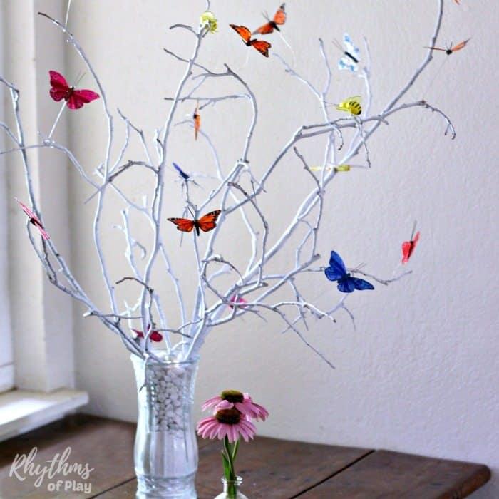 Butterfly tree centerpiece