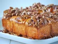 Caramel pecan sticky buns 200x150 Bake Away with Glee: Tasty Sticky Bun Recipes