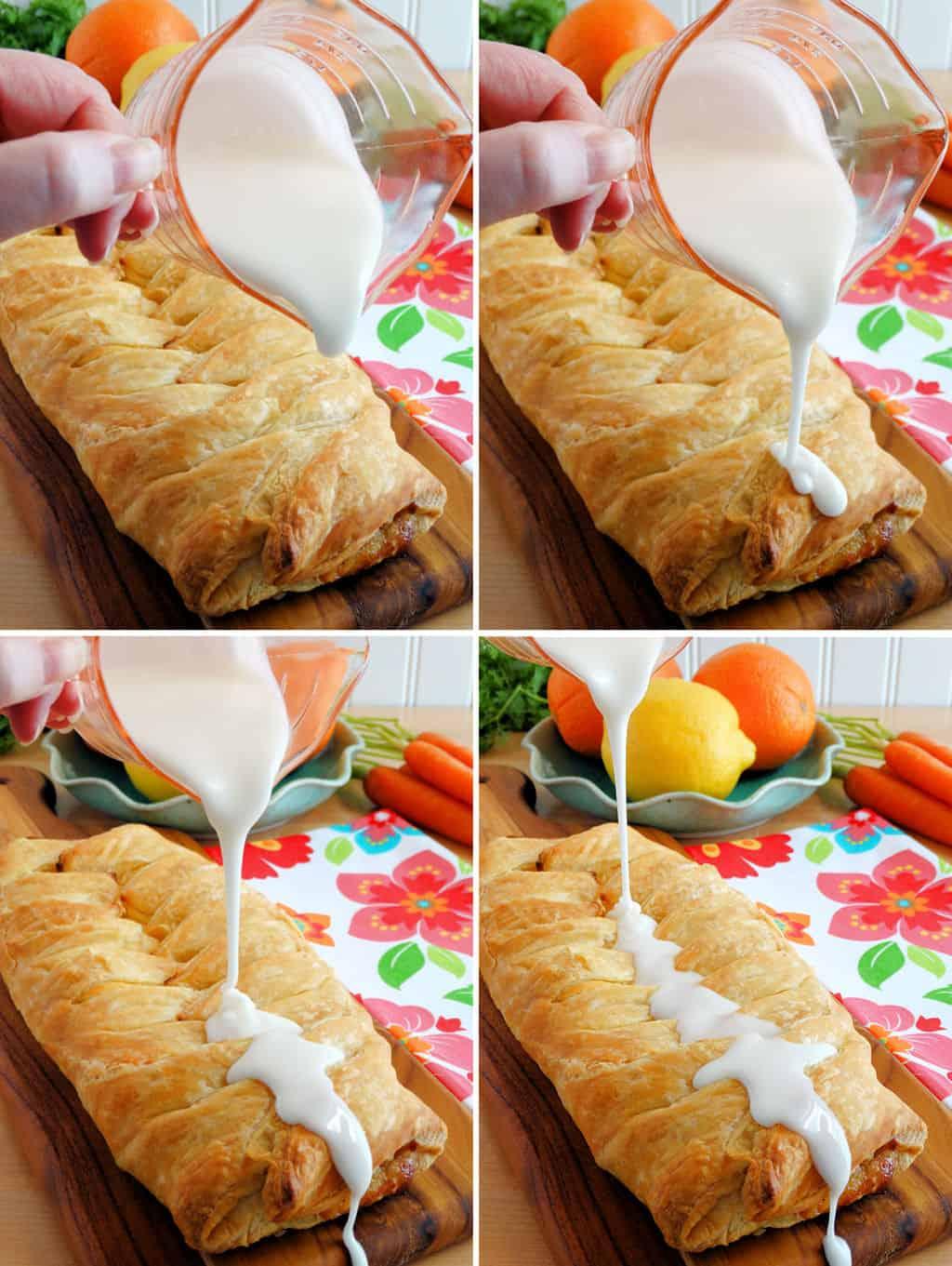 Carrot cake cheese danish
