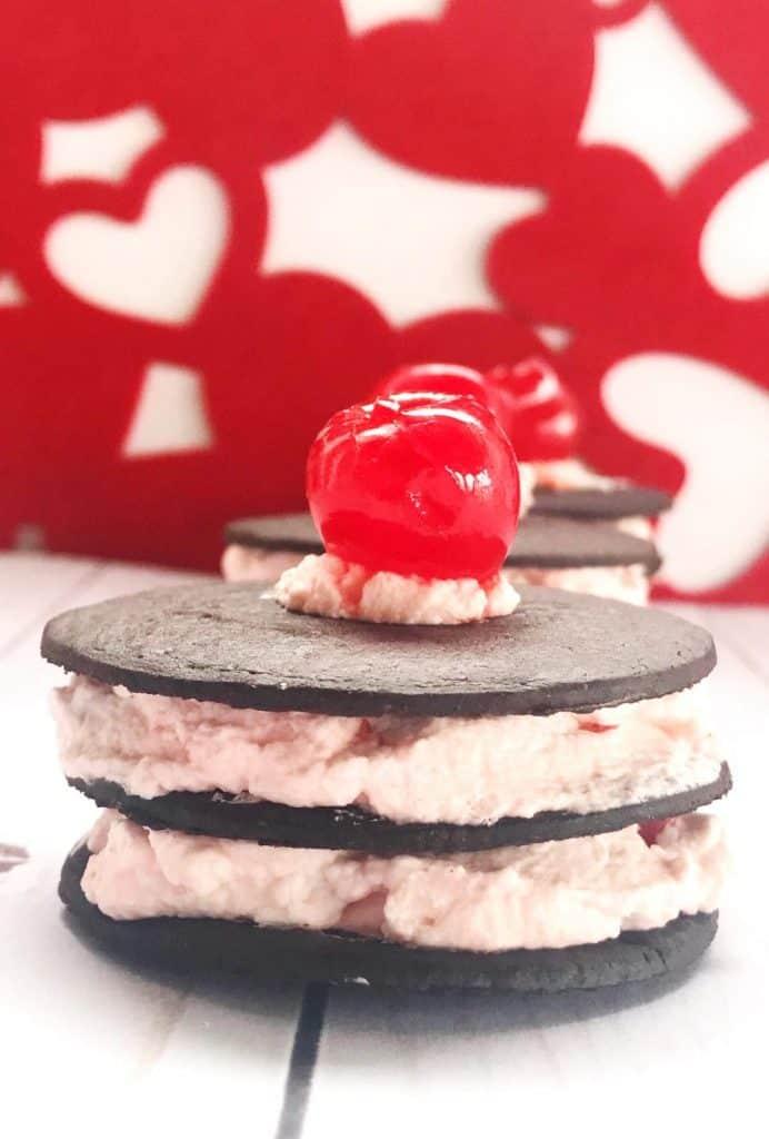 Cherry chocolate wafer cookies