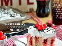 Cherry vanilla Coca Cola poke cake 200x150 Fizzy and Super Fun Recipes Made With Soda Pop!