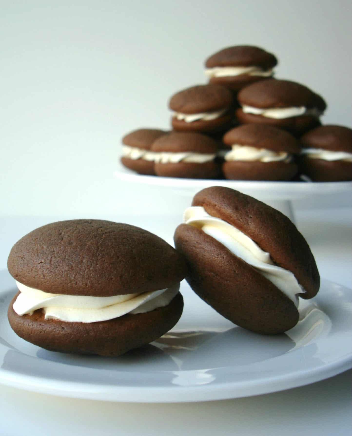 Chocolate buttercream whoopie pies