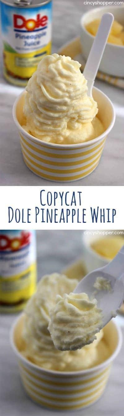 Copycat pineapple Dole whip