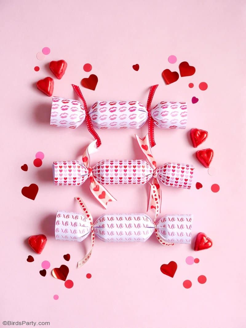 DIY Valentine's Day party crackers