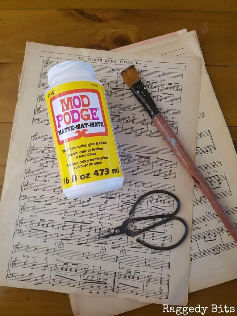 DIY music sheet coasters