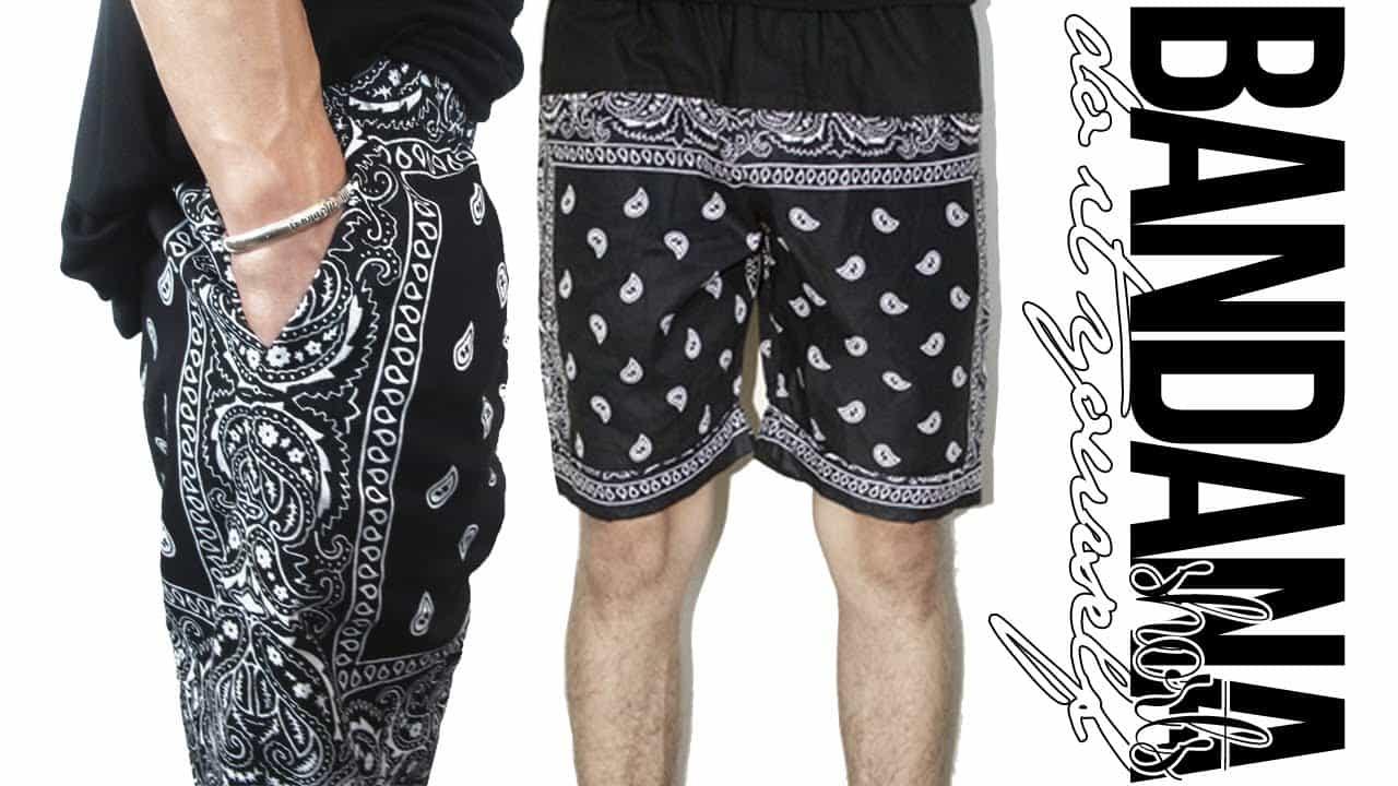 DIY paisley bandana shorts