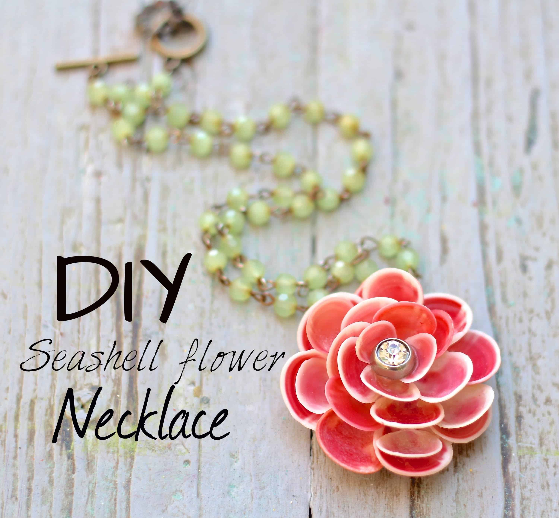 DIY seashell flower necklace
