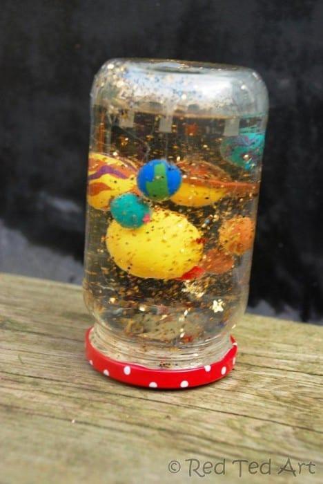DIY solar system snow globe