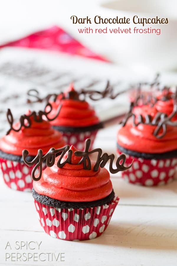 Dark chocolate cupcakes with red velvet cupcakes and chocolate quotes