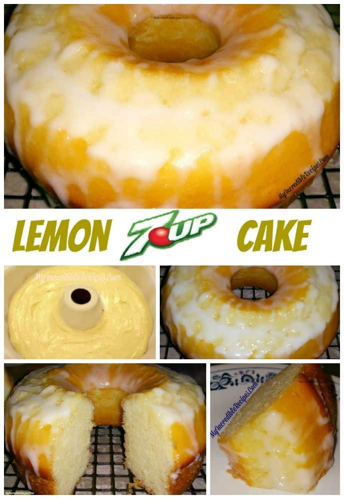 Delicious lemon 7-Up cake