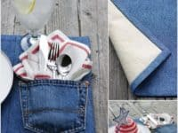 Denim pocket placemats 200x150 Awesome DIY Placemat Designs