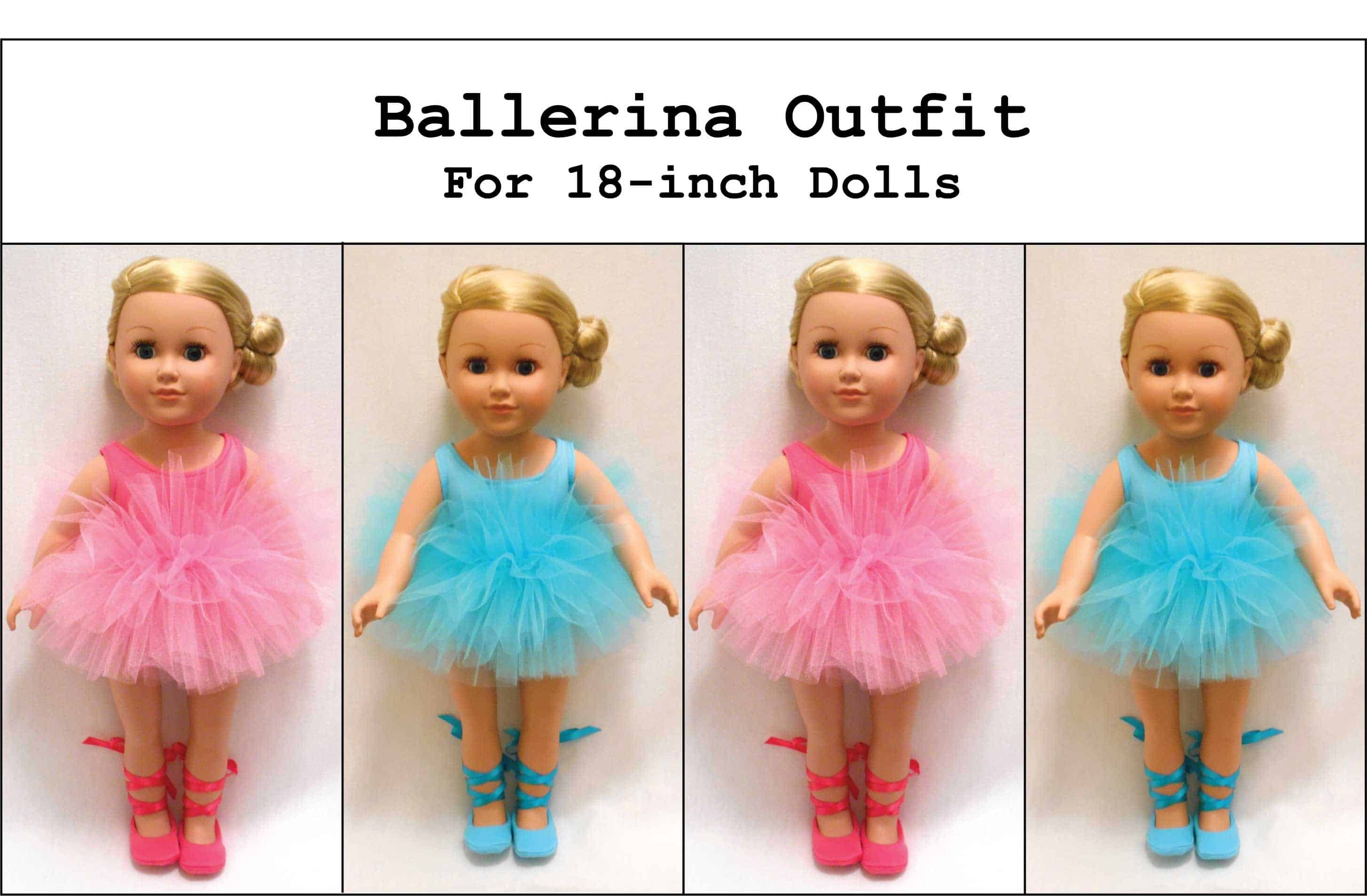 Doll's ballet outfit